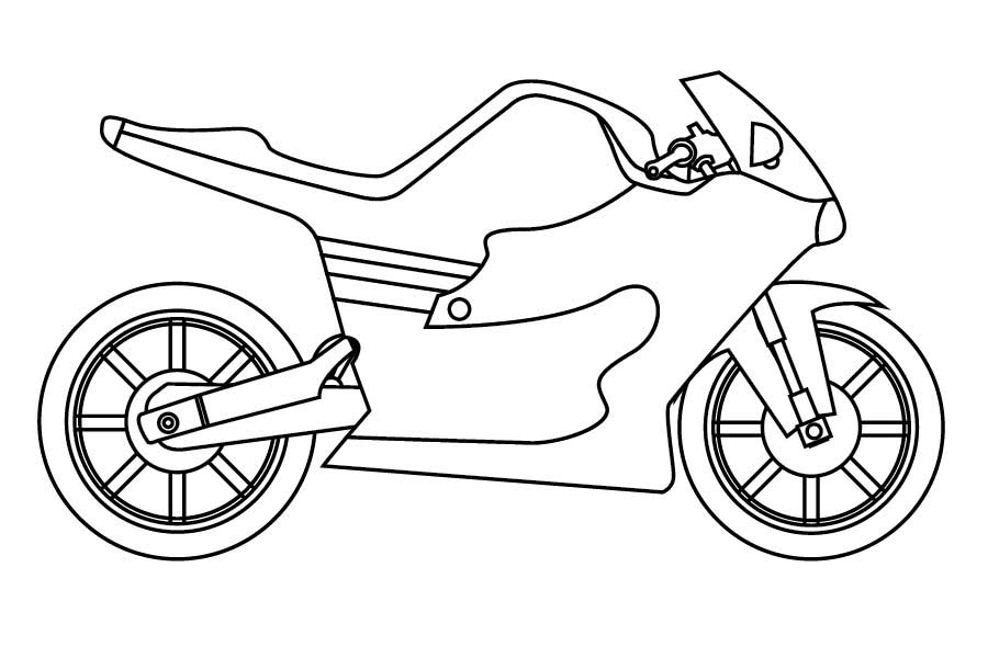 Motorcycle Coloring Pages Free