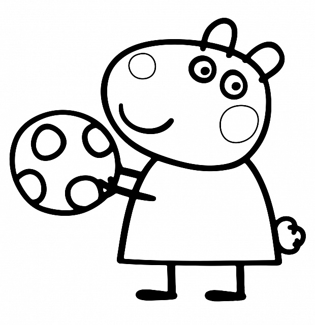 Peppa Pig Coloring Pages Easter