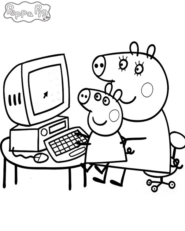 Peppa Pig Coloring Pages To Print