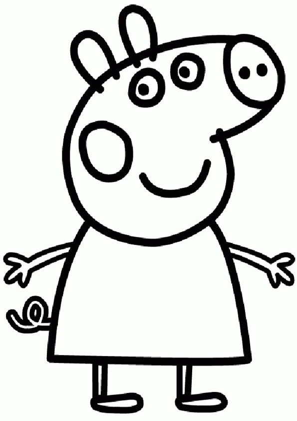 Peppa Pig George Coloring Pages