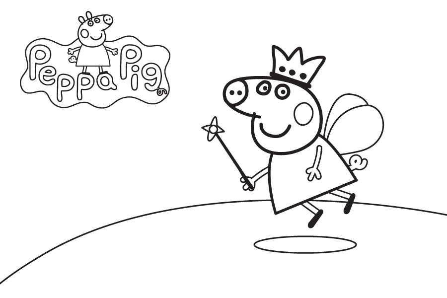 Peppa Pig Princess Coloring Pages