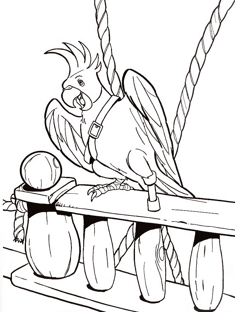 Pirate Parrot Coloring Pages