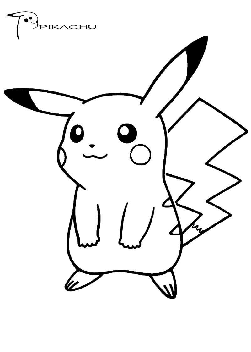 Pokemon Coloring Pages Pikachu Cute