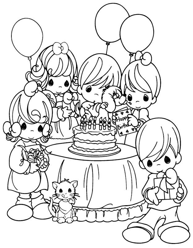 Precious Moments Birthday Coloring Pages