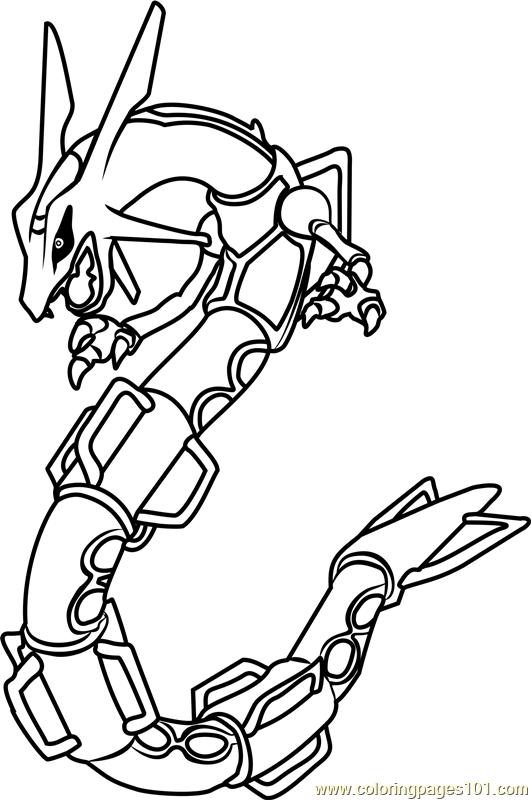 Rayquaza Pokemon coloring page