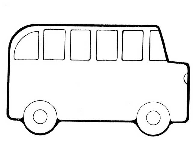 School Bus Coloring Page For Preschool