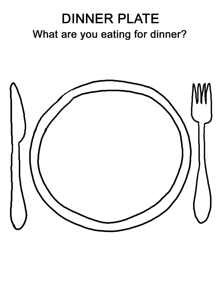 Thanksgiving Dinner Plate Coloring Pages