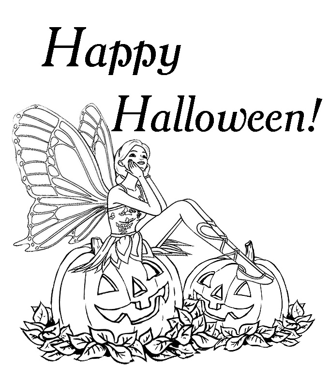 Tinkerbell Halloween Coloring Pages