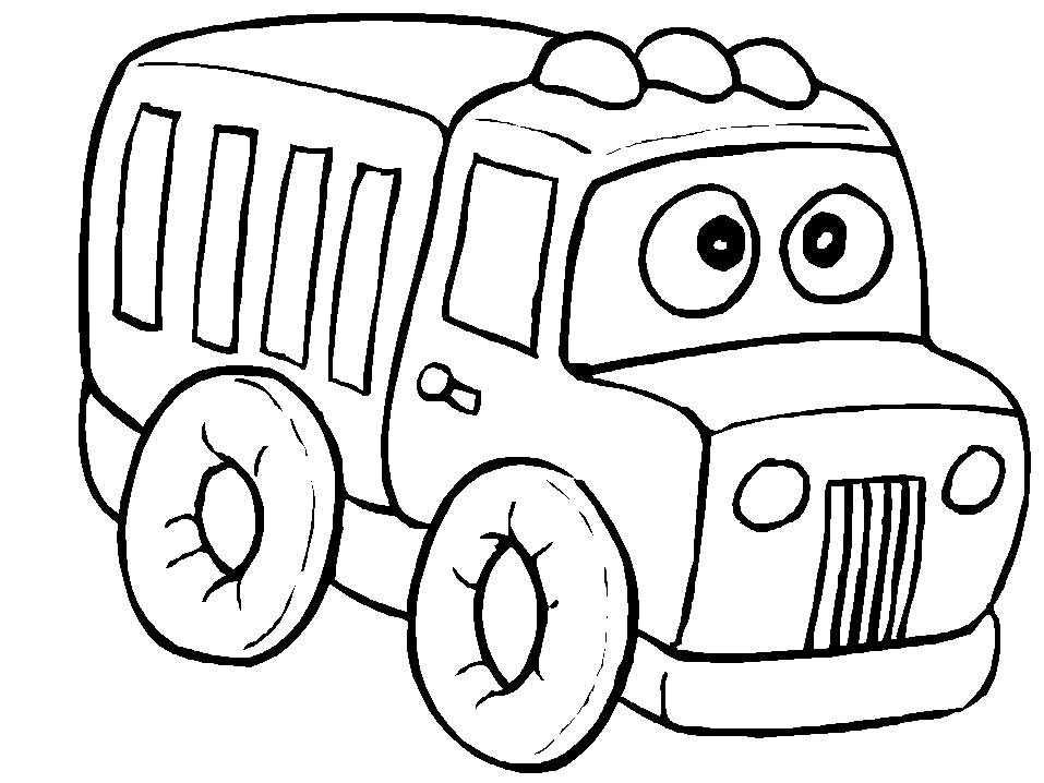Toy Truck Coloring Pages