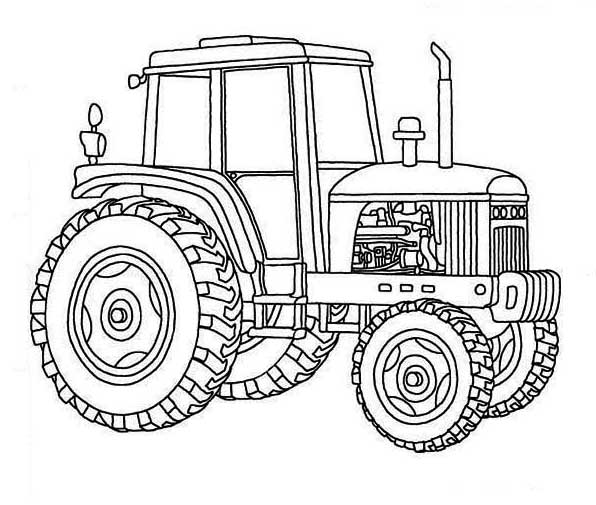Tractor Coloring Book Pages