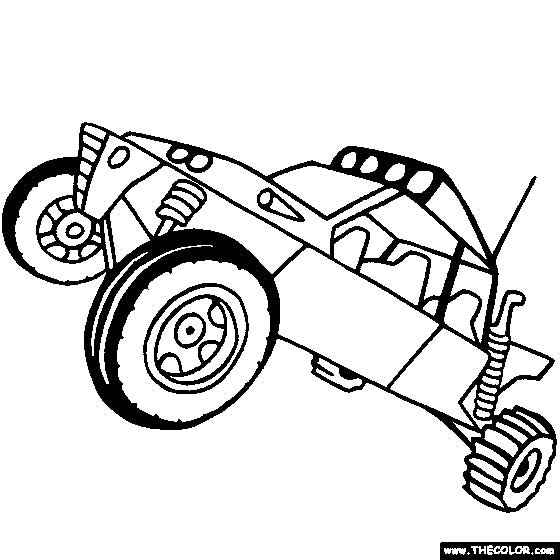 Trophy Truck Coloring Pages