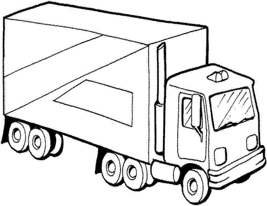 Truck Coloring Pages For Kids