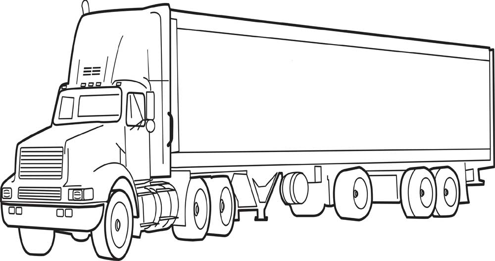40 Free Printable Truck Coloring Pages Download on kenworth semi trucks
