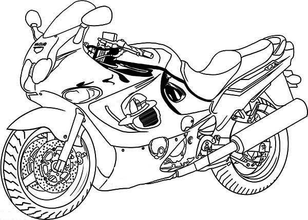 Yamaha Motorcycle Coloring Pages