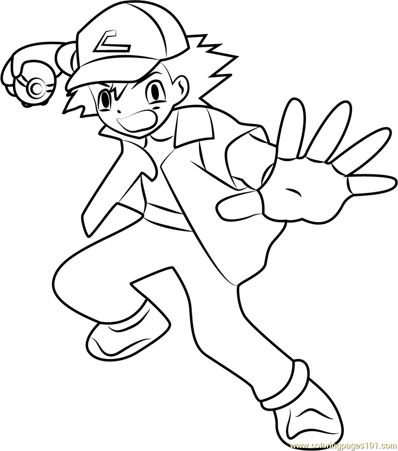 ash coloring page