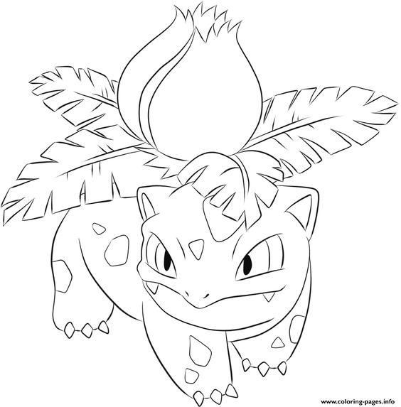 bulbasaur coloring pages