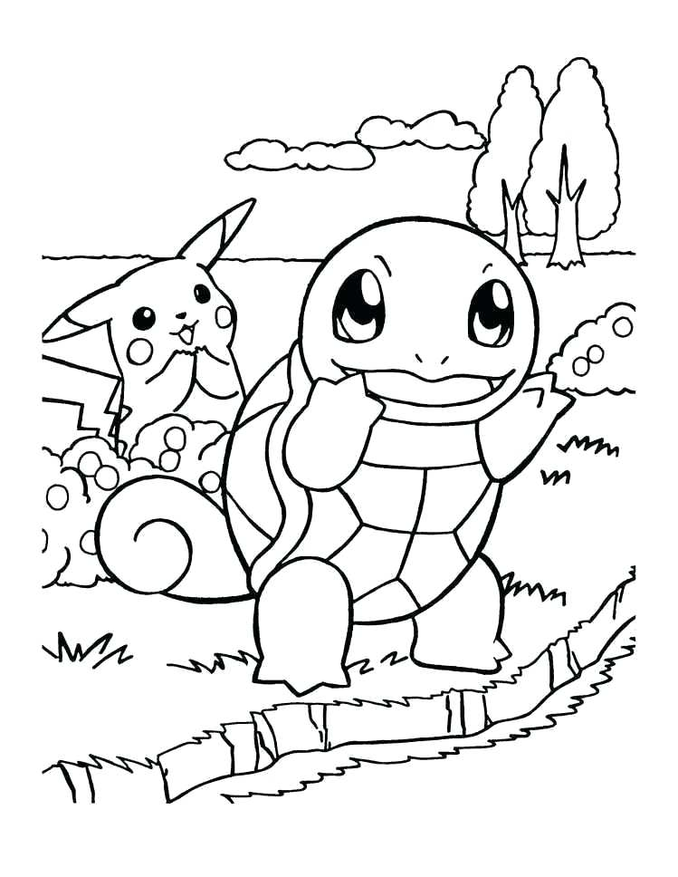 squirtle Pikachu