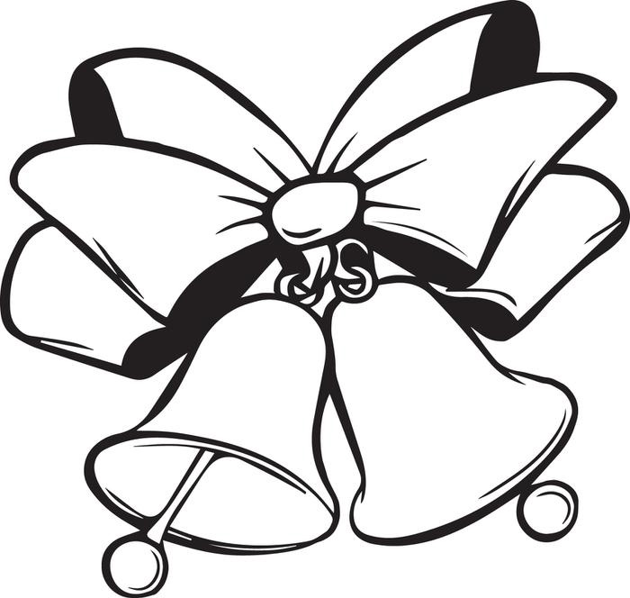 Christmas Bells Coloring Pages Kids