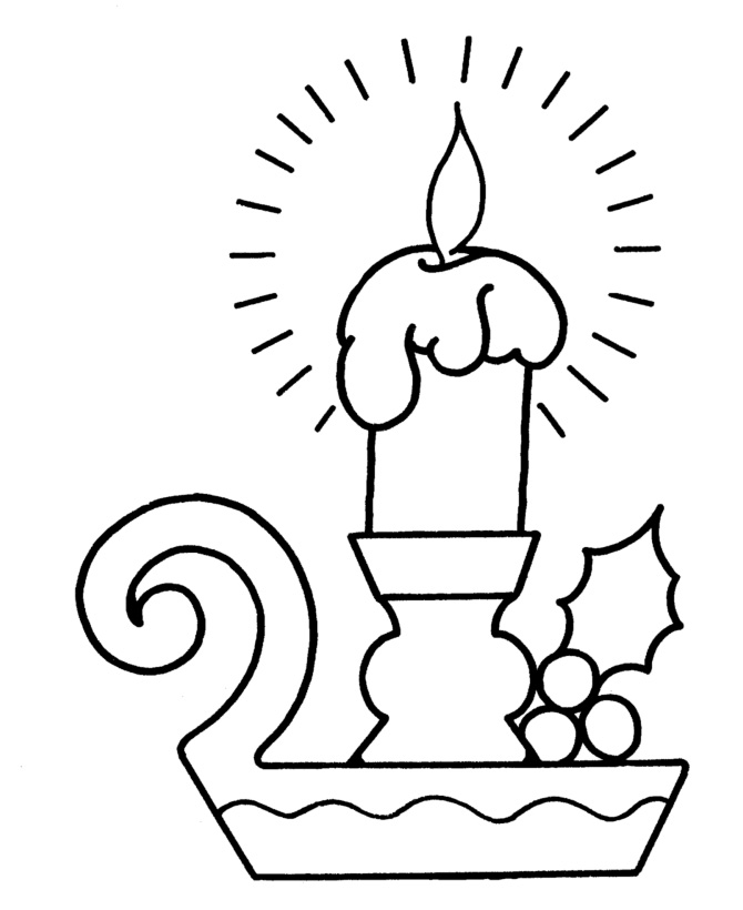 Christmas Candles Coloring Pages To Print
