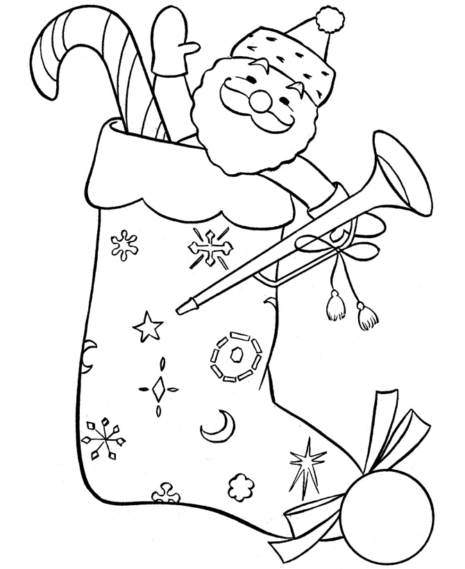 Christmas Stockings Coloring Pages Kids
