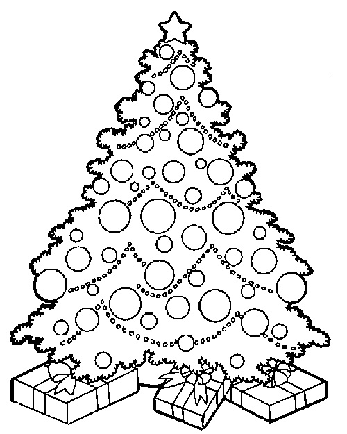 Christmas Tree Coloring Pages Free Download