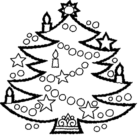 Christmas Tree Coloring PaChristmas Tree Coloring Pages for Kids