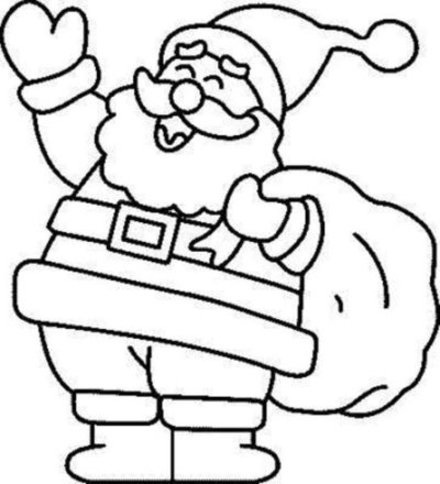 Cute Santa Coloring PagesCute Santa Coloring Pages