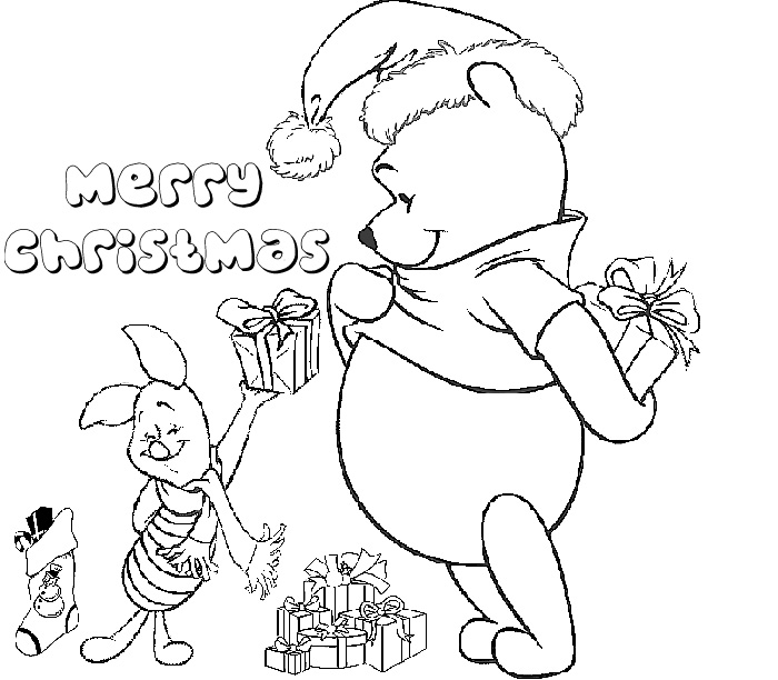 Disney Coloring Pages For Christmas