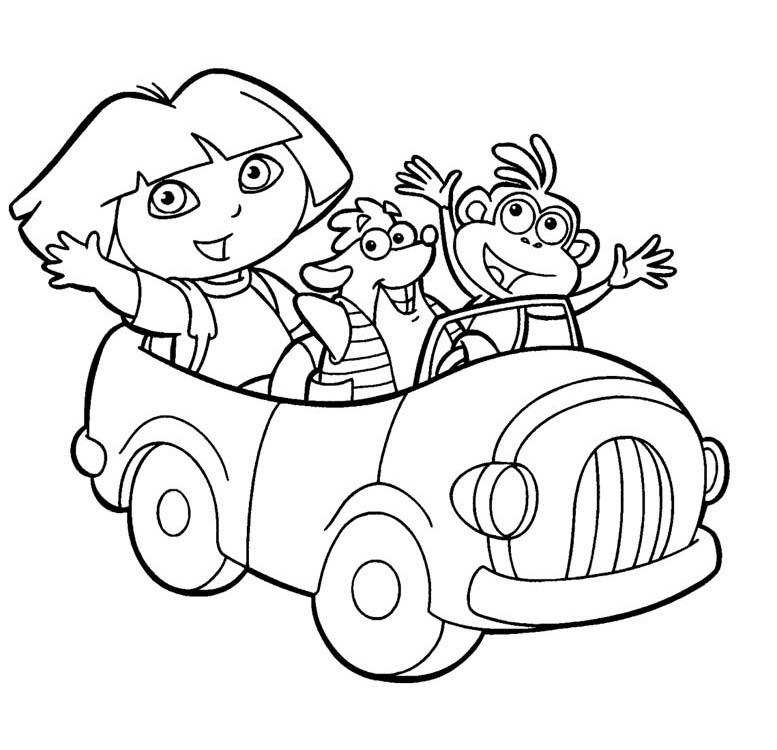 Dora The Explorer Coloring Pages Free