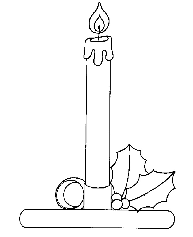 Free Christmas Candles Coloring Pages