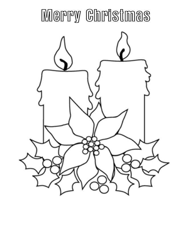 Free Download Christmas Candles Coloring Pages