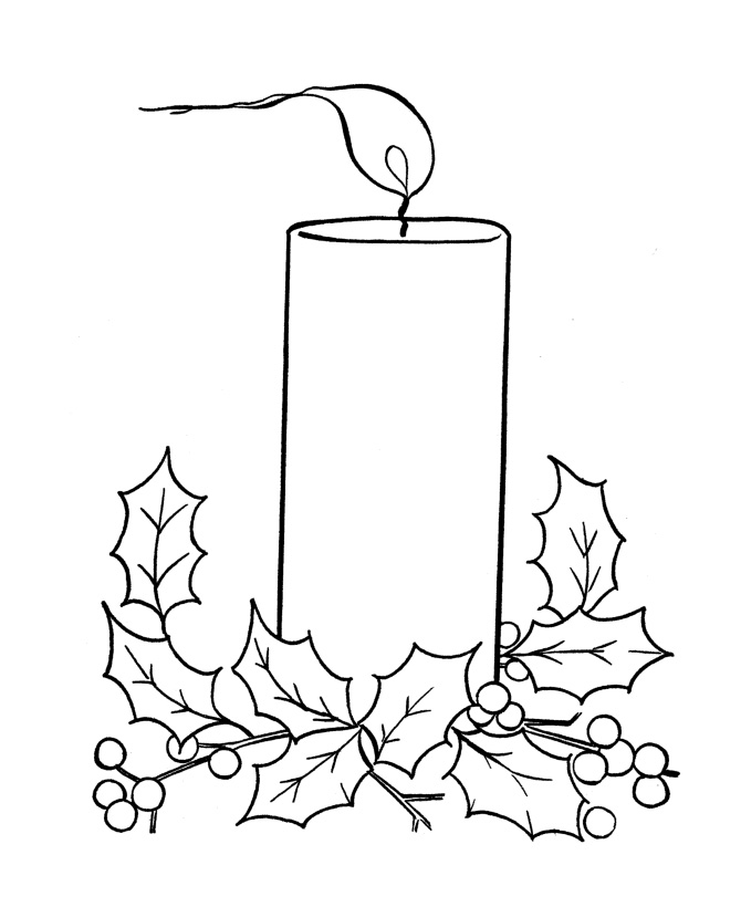 Free Printable Christmas Candles Coloring Pages