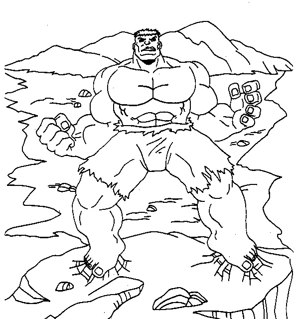 Free Printable Hulk Coloring Pages