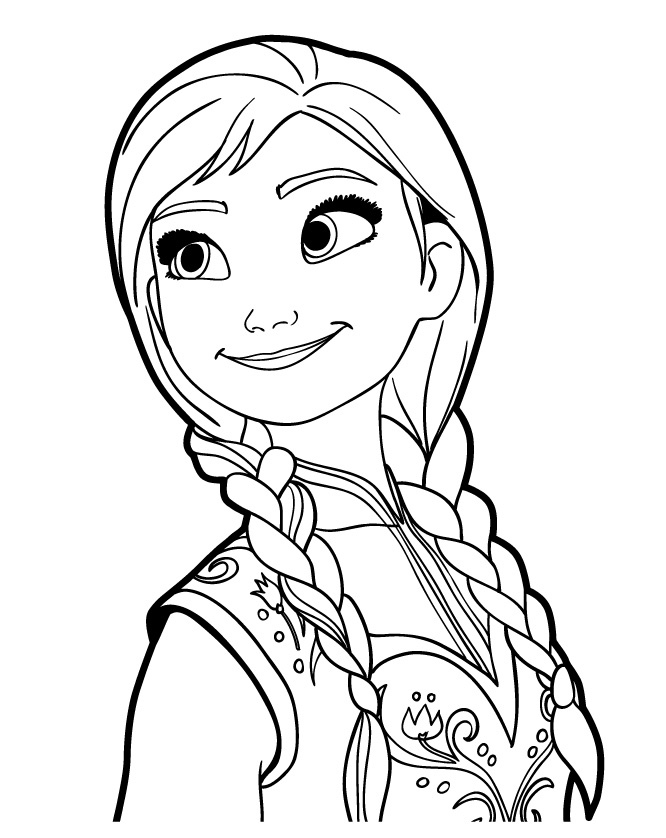 Frozen Coloring Pages Anna