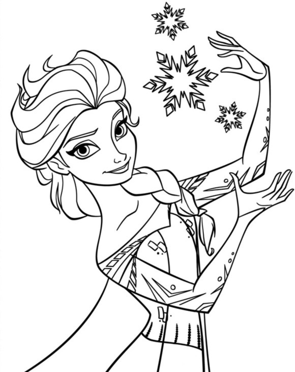 Disney Frozen Coloring Pages To