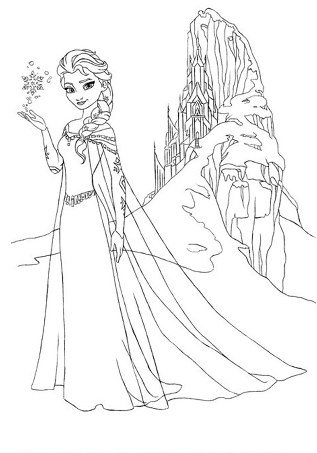 Frozen Elsa Castle Coloring Pages