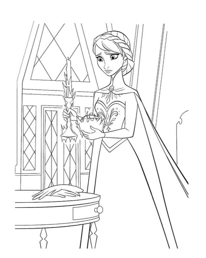 Frozen Elsa Coloring Pages Download