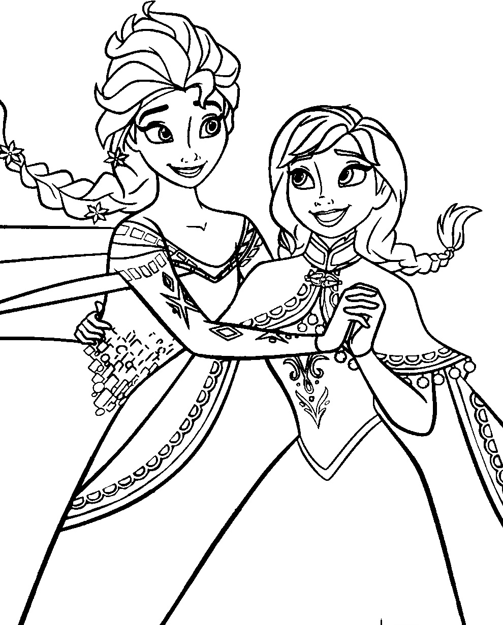 Frozen Elsa Coloring Pages Easy