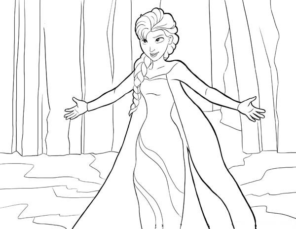 Frozen Elsa Coloring Pages For Kids