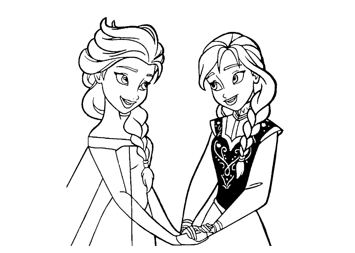 Frozen Princess Coloring Pages