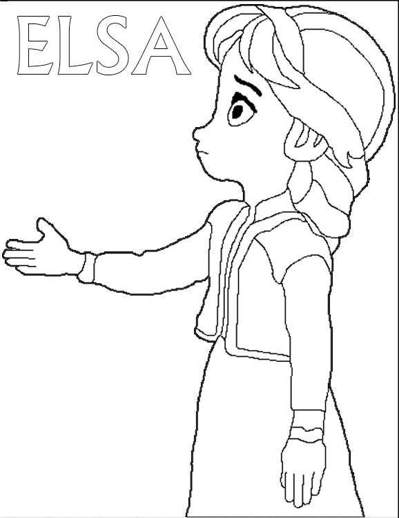 Frozen Young Elsa Coloring Pages