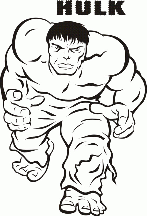 Hulk Coloring Pages Free Download