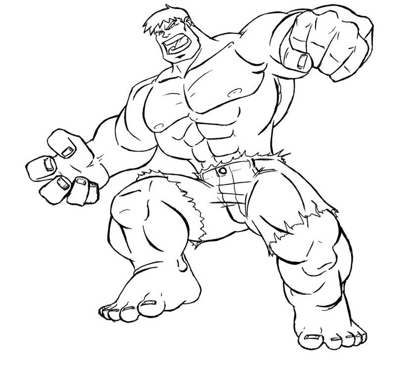 Hulk Coloring Pages Printable