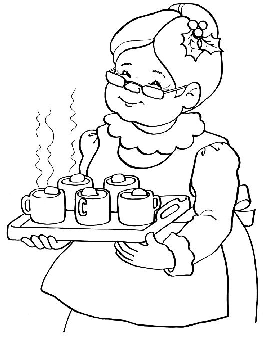Mrs Santa Claus Coloring Pages