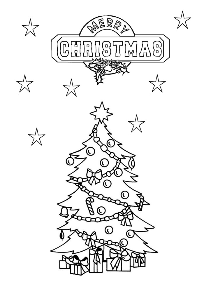 Precious Moments Christmas Tree Coloring Pages