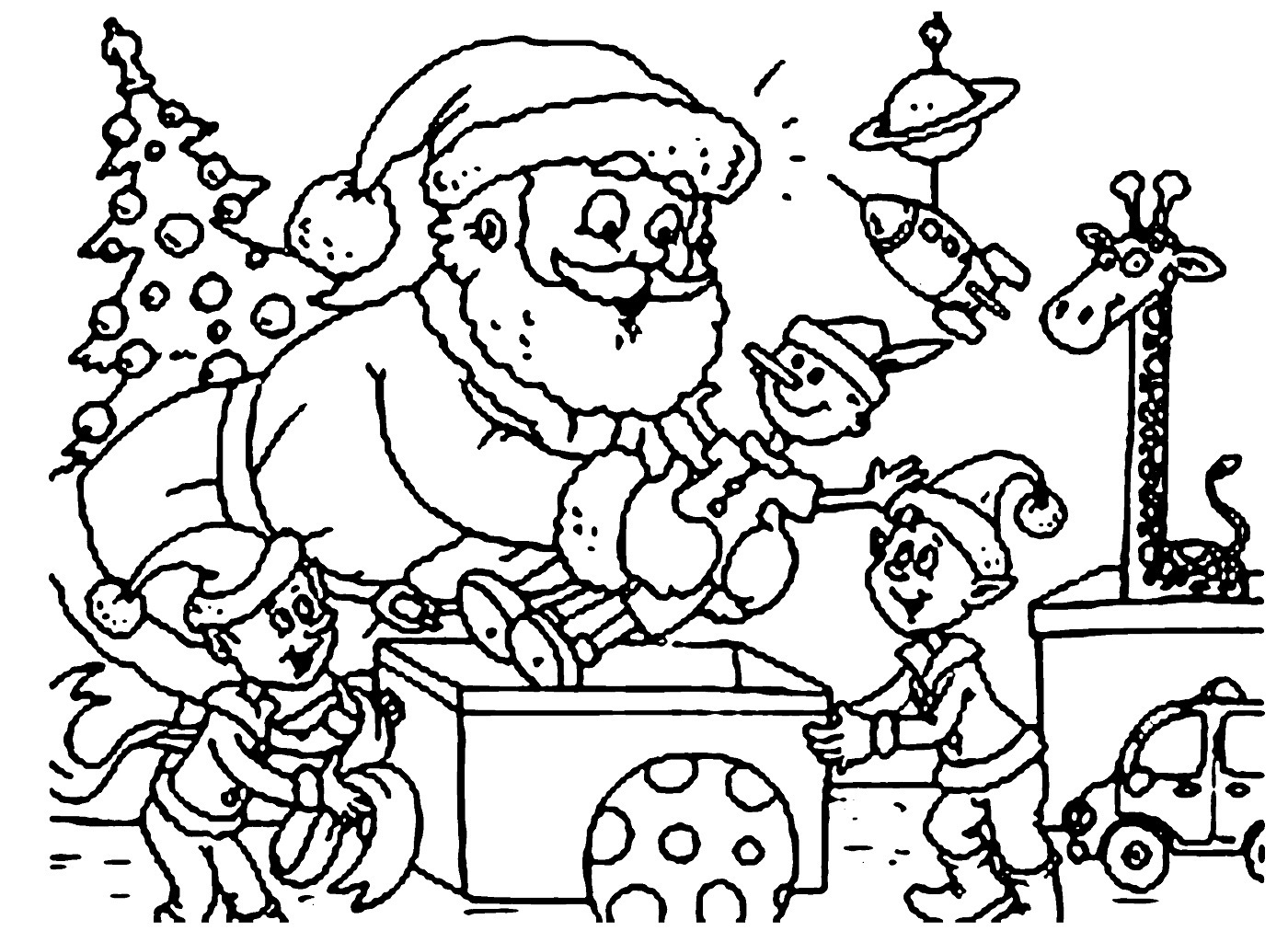 Santa Claus Coloring Pages Free Printable