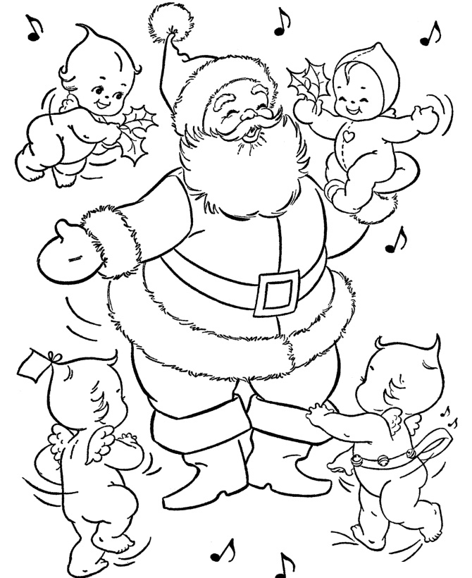 Santa Claus Coloring Pages To Print