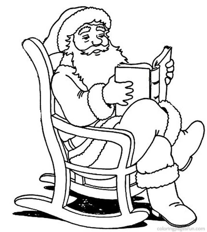 Santa Claus Coloring Pictures