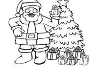 Santa Coloring Pages FreeSanta Coloring Pages Free