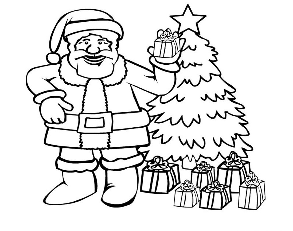 santa coloring pages freesanta coloring pages free